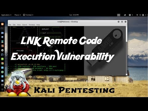 Exploit Windows (USB) – LNK Remote Code Execution Vulnerability | Kali Linux 2017.3