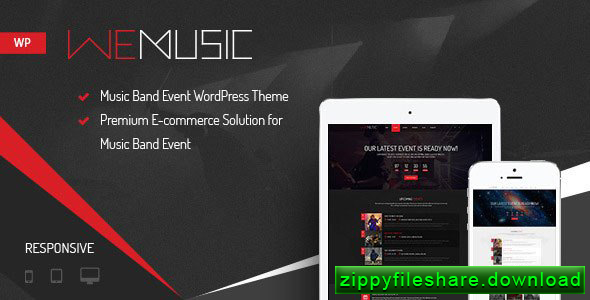 WeMusic v1.7.6 Premium Responsive Music Band Event WordPress Theme