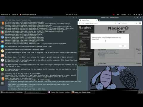 Nagios Exploit DEMO – Remote CodeExec CVE-2016-9565 & Root PrivEsc CVE-2016-9566