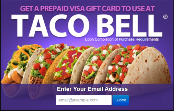 GET TACO BELL FREE GIFT CARD